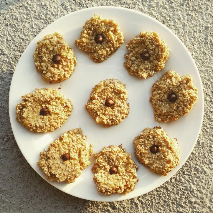 2 Ingredient Banana Oat Cookies