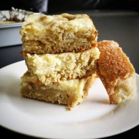 Top Pot Cinnamon Sugar Donut Cream Cheese Blonde Brownies