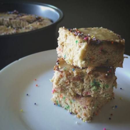 Funfetti Nutella Swirl Applesauce Blonde Brownies from Scratch