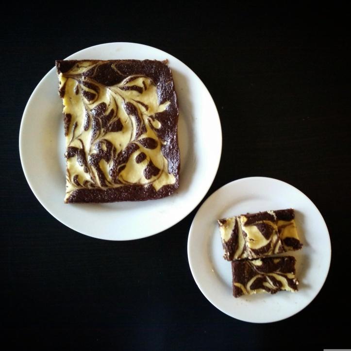 Healthy, Gooey, Cream Cheese Chocolate Applesauce Brownies